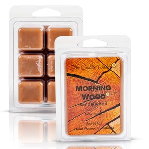 5 Pack - Morning Wood - Sandalwood Scented Wax Melt Cubes - 2 Oz x 5 Packs = 10 Ounces