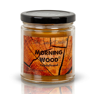 Morning Wood - Sandalwood Scent - Funny - 6 Ounce Candle - Hand Poured In Indiana - The Candle Daddy