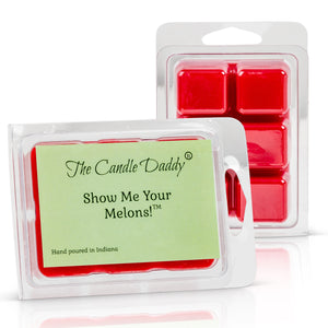 5 Pack - Show Me Your Melons - Watermelon Scented Wax Melt Cubes - 2 Oz x 5 Packs = 10 Ounces