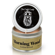 Morning Wood - Cedarwood Vanilla scented 6 oz travel tin candle - Poured in the USA