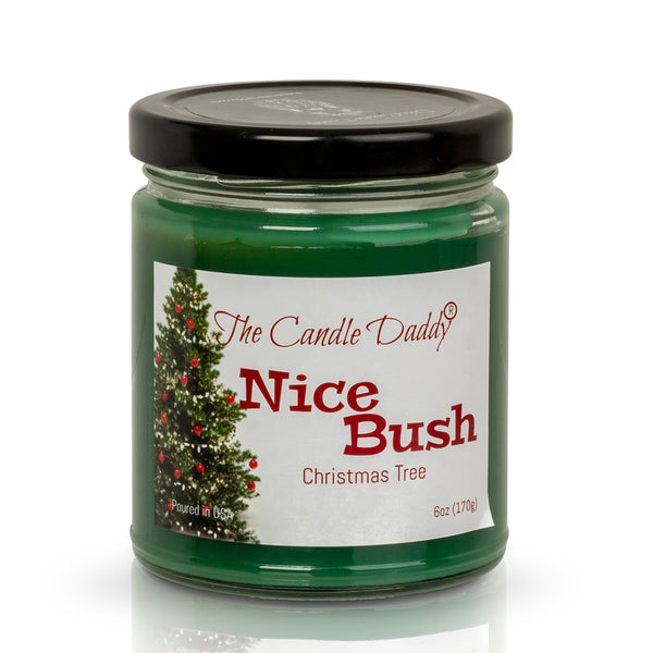 Nice Bush Holiday Candle - Funny Blue Spruce Scented Candle - Funny Holiday Candle for Christmas, New Years - Long Burn Time, Holiday Fragrance, Hand Poured in USA - 6oz