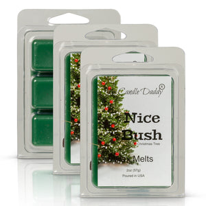 Nice Bush - Funny Pine Tree Christmas Scent - Maximum Scented Wax Melt Cubes - 2 Ounces Per Pack - Hand Poured In Indiana