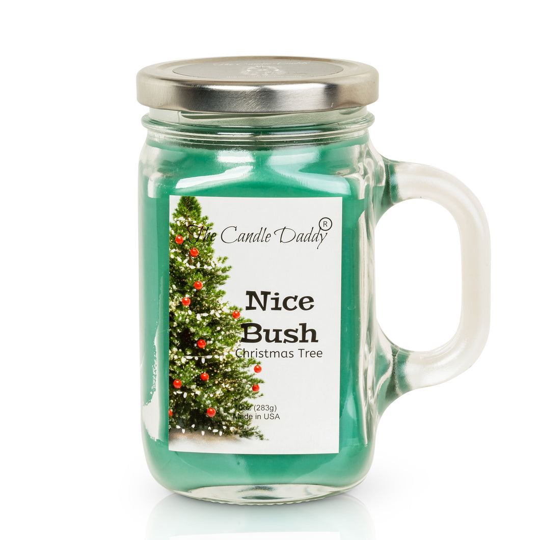 Nice Bush- Christmas Tree Scented Candle- Funny 10 oz- Made in USA