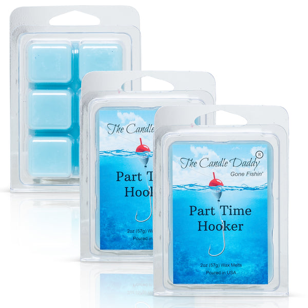 The Candle Daddy's Gone Fishin' - Part Time Hooker - Water's Edge Scented Melt- Maximum Scent Wax Cubes/Melts- 1 Pack -2 Ounces- 6 Cubes