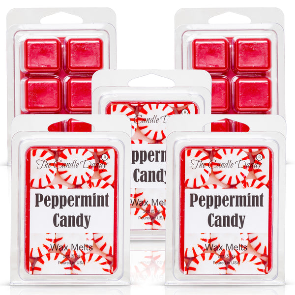 Peppermint Candy - Minty Fresh Scented Melt - Maximum Scent Wax Cubes/Melts- 1 Pack -2 Ounces- 6 Cubes