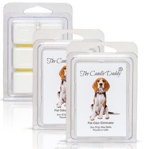 Beagle Dog - Pet Odor Eliminator Scented Melt- Maximum Scent Wax Cubes/Melts- 1 Pack -2 Ounces- 6 Cubes
