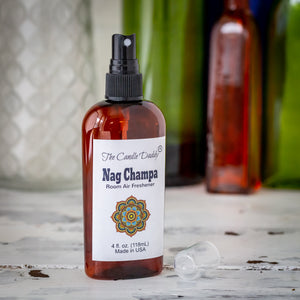 Nag Champa - Incense Scent - Maximum Scented Room Air Freshener Spray - 4 Ounces Bottle With Spray Lid - Made In Indiana