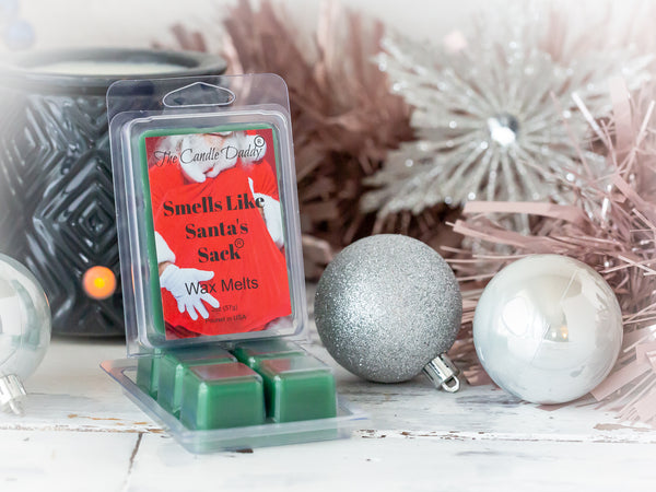 Smells Like Santa's Sack - Christmas Brown Sugar Fig Scent - Maximum Scented Wax Melt Cubes - 2 Ounces Per Pack - Hand Poured In Indiana