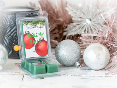 Jingle My Balls - Holly Berry Christmas Scent - Maximum Scented Wax Melt Cubes - 2 Ounce