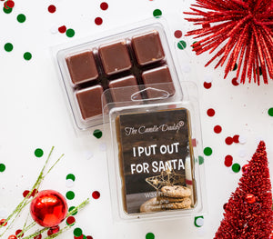 I Put Out For Santa - Funny Chocolate Chip Cooke Scented- Maximum Scented Wax Melt Cubes - 2 Ounces Per Pack - Hand Poured In Indiana