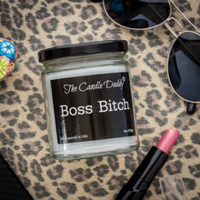 Boss Bitch - Apple Maple Bourbon Scent - Maximum Scented 6 Ounce Jar Candle - Hand Poured In Indiana