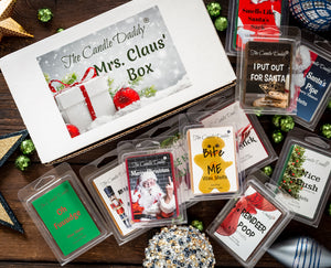 Mrs. Claus' Box- 11 Packs of Random Christmas Wax Melts in the Box- Great Dirty Santa Gift Box