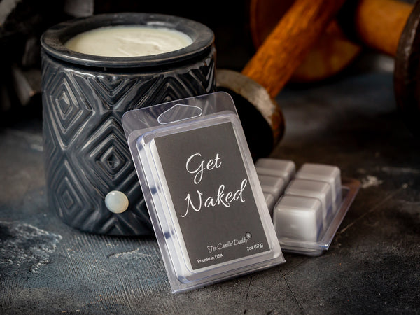 Get Naked - Mulled Cider & Chestnut Scented Melt- Maximum Scent Wax Cubes/Melts- 1 Pack -2 Ounces- 6 Cubes