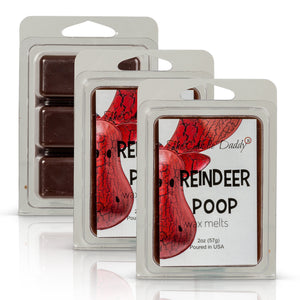 Reindeer Poop - Funny Christmas- Coffee Scented - Maximum Scented Wax Melt Cubes - 2 Ounce