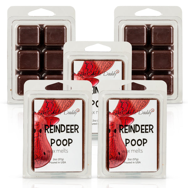Reindeer Poop - Funny Christmas - Fudge Scented - Maximum Scented Wax Melt Cubes - 2 Ounce