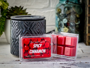 5 Pack - Spicy Cinnamon Scented Wax Melt Cubes - 2 Oz x 5 Packs = 10 Ounces