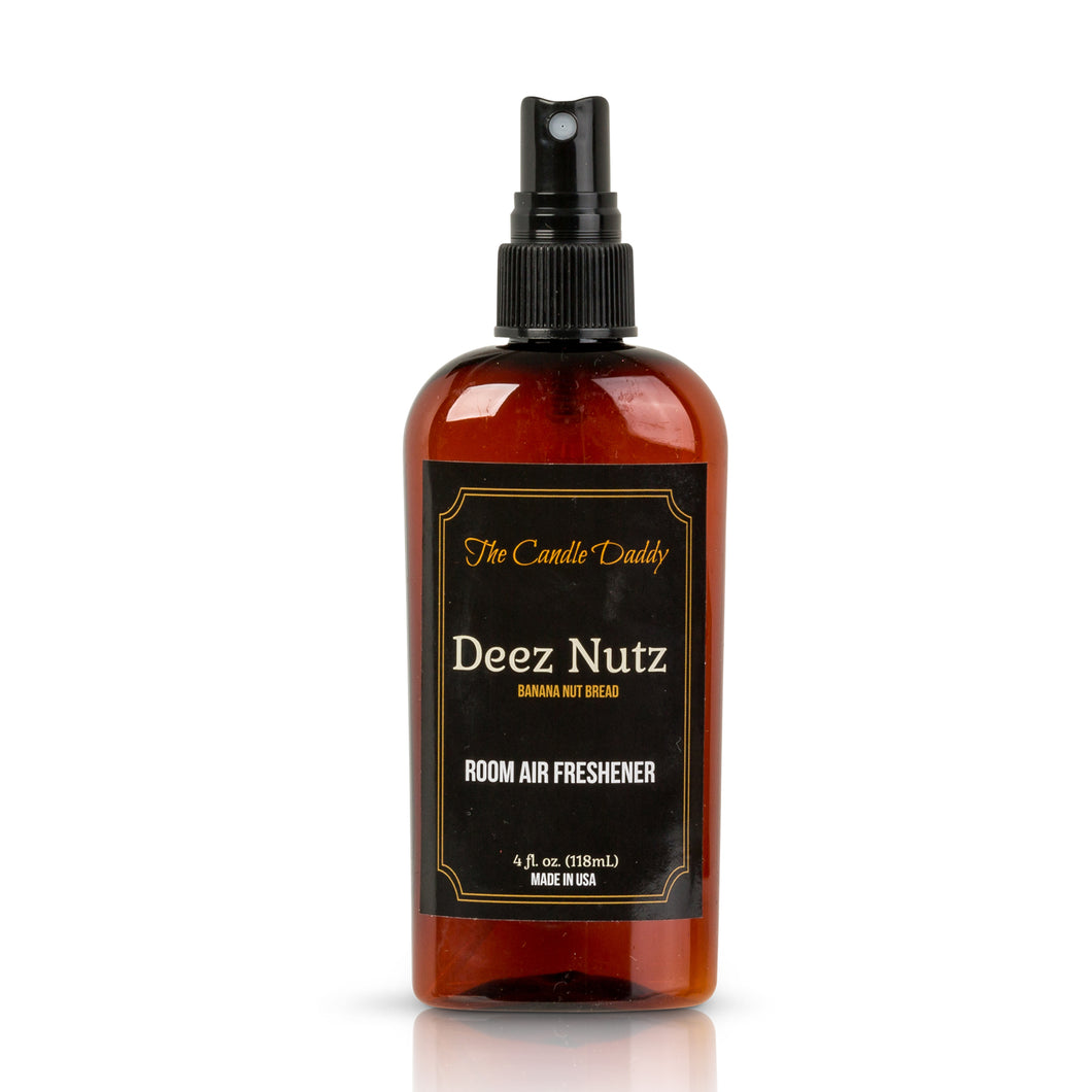 Deez Nutz - Banana Nut Bread Scent - Maximum Scented Room Air Freshener Spray - 4 Ounce Bottle With Spray Lid - Made In Indiana