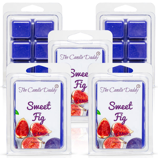 Sweet Fig Scented Melt- Maximum Scent Wax Cubes/Melts- 1 Pack -2 Ounces- 6 Cubes