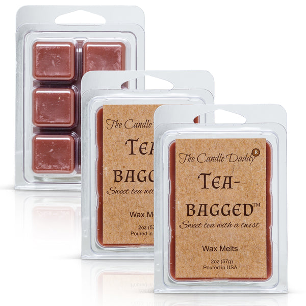 Tea-Bagged - Sweet Tea With A Twist Scented Melt- Maximum Scent Wax Cubes/Melts- 1 Pack -2 Ounces- 6 Cubes