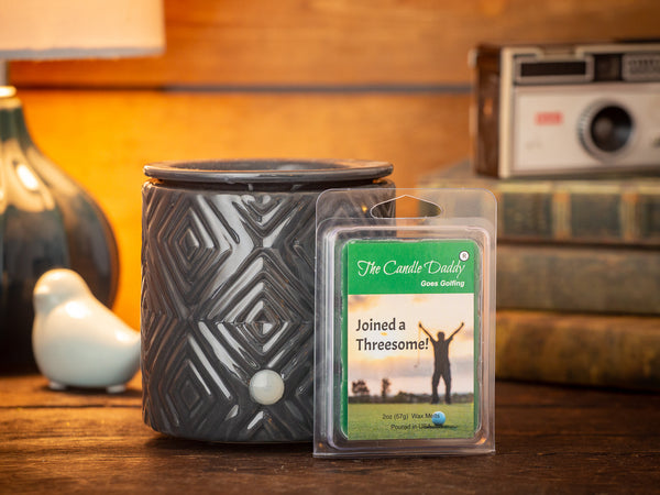 The Candle Daddy Goes Golfing - Joined a Threesome - Fairway Grass Scented Melt- Maximum Scent Wax Cubes/Melts- 1 Pack -2 Ounces- 6 Cubes