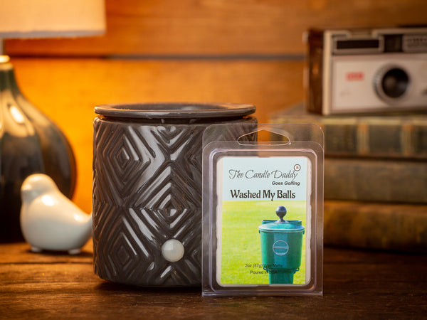 The Candle Daddy Goes Golfing - Washed My Balls - Clean Golf Ball Scented Melt- Maximum Scent Wax Cubes/Melts- 1 Pack -2 Ounces- 6 Cubes