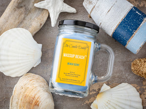 Wassup Beach - Beach Scented 10oz Mason Jar Candle - The Candle Daddy