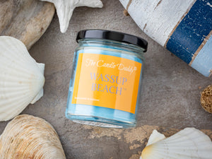Wassup Beach - Beach Scented 6oz Jar Candle - The Candle Daddy - Hand Poured In Indiana