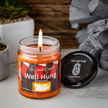 Well Hung Fireplace Holiday Candle - Funny Fire Place Scented Candle - Funny Holiday Candle for Christmas, New Years - Long Burn Time, Holiday Fragrance, Hand Poured in USA - 6oz