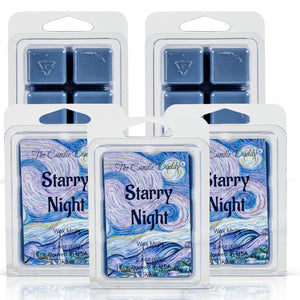 5 Pack - Starry Night - Best Night Ever Scented Wax Melt Cubes - 2 Oz x 5 Packs = 10 Ounces