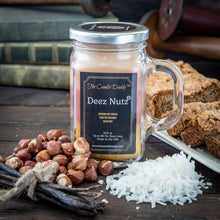 Back in Stock!  Limited Supply - Deez Nutz Candle - Triple Scent Pour - 10 Ounce - 80 Hour Burn Time- The Candle Daddy- Banana Nut Bread-Toasted Coconut-Hazelnut- Made in USA
