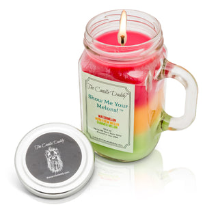 Show Me Your Melons - Watermelon Cantaloupe Honeydew Scented Candle - 10 Ounce- 80 Hour Burn- Made in USA