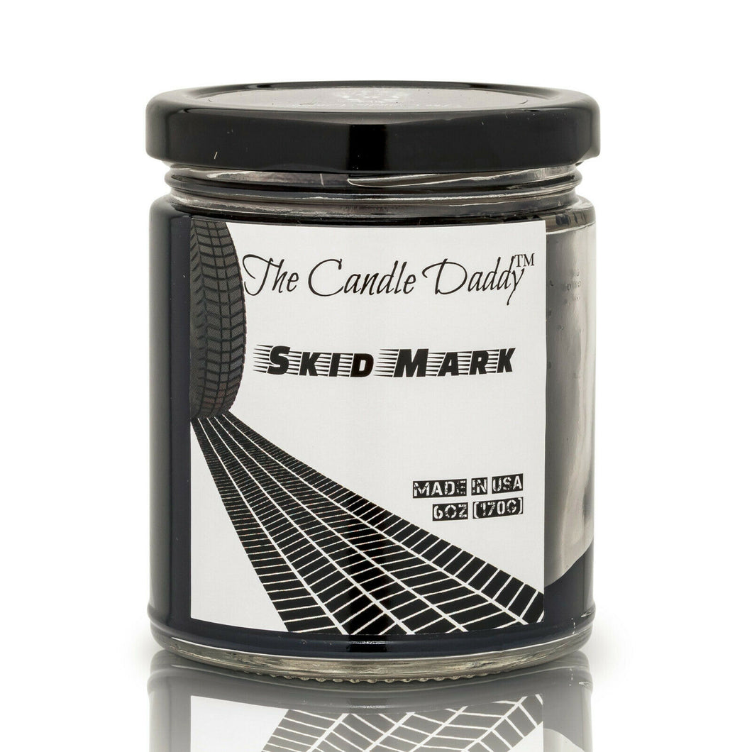 Rubber (Burnt) Burnt Rubber Candle - Skid Mark - 6 Ounce - 40 Hour Burn