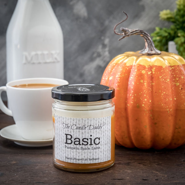 Basic- Fun & Funny Jar Candle- Pumpkin Spice Latte - 6 oz- 40 hour burn