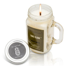 Toke Cloak Smoke and Odor Eliminator Candle -10 ounce- 80 hour burn- Mason Jar with Handle- Made in USA