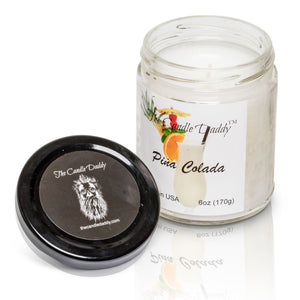 Pina Colada candle by The Candle Daddy™ Glass Jar Candle 6 oz With Lid NEW