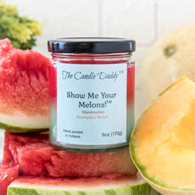Show Me Your Melons- Watermelon- Honeydew - 6 Ounce Jar Candle- The Candle Daddy- Hand Poured in Indiana