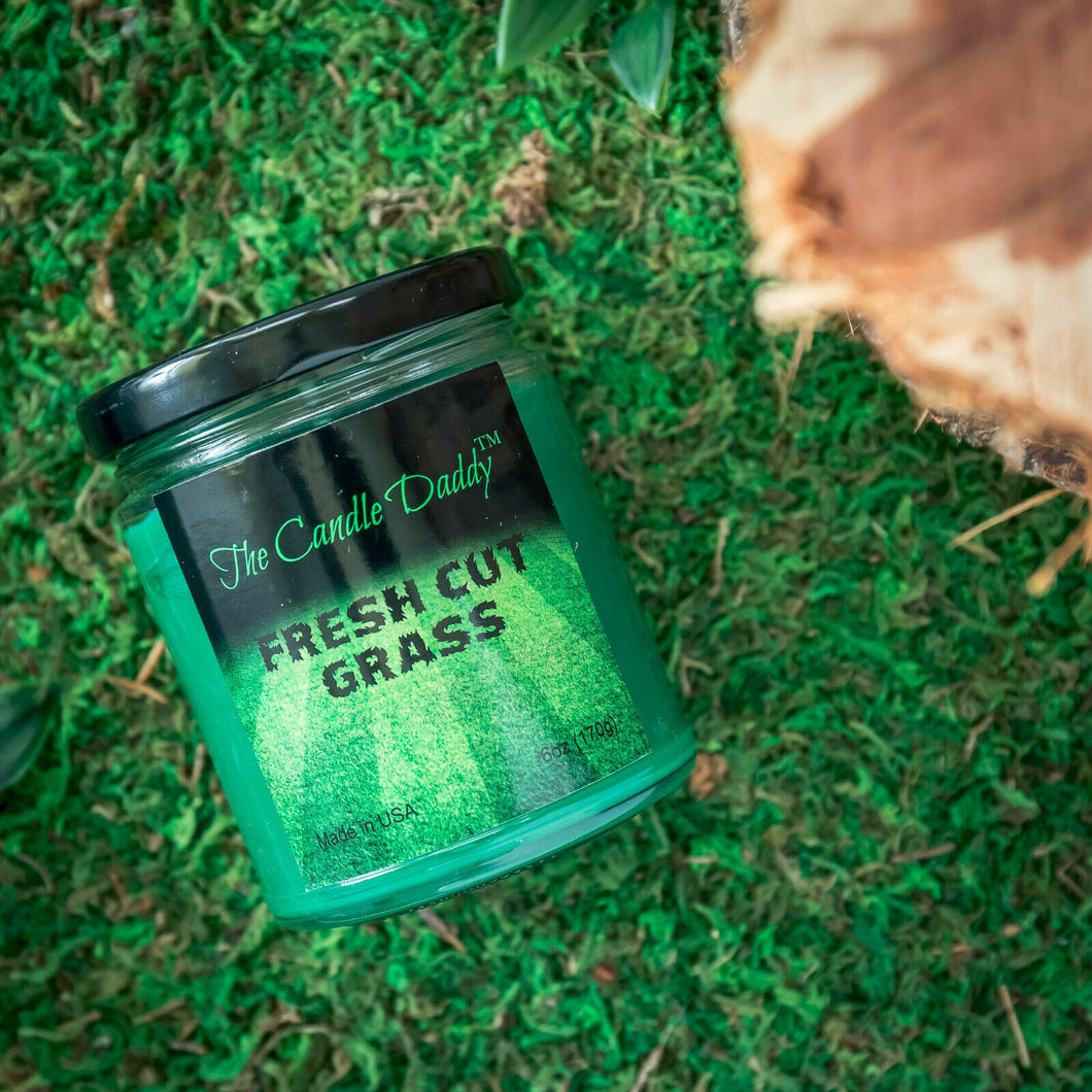 Fresh Cut Grass Scented Candle- 6 Ounce - 40 Hour Burn