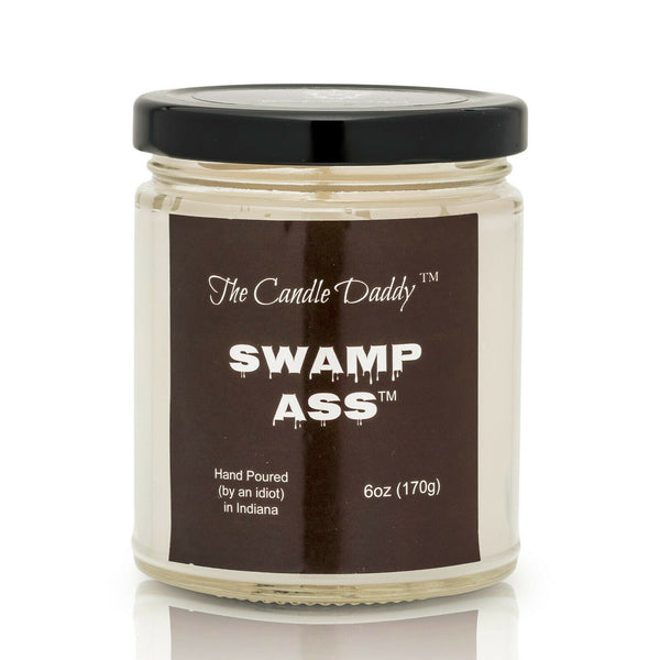 Swamp Ass -Very Horrible Smelling Candle- Practical Joke- 6 Ounce Candle - 40 Hour Burn