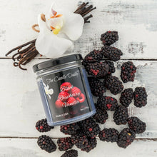 Black Raspberry Vanilla 6 oz jar candle The Candle Daddy 40 + hour burn BRV NEW