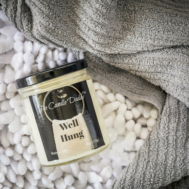 Well Hung- Fresh Linen Scented Candle- 6 Ounce - 40 Hour Burn