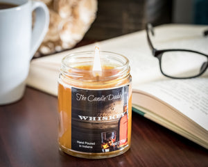 Whiskey (Bourbon) Scented Candle - 6 Ounce - The Candle Daddy- Hand Poured in Indiana