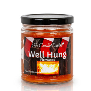 Well Hung- Firewood Scented Candle- 6 Ounce - 40 Hour Burn