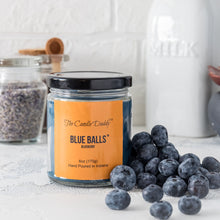 Blue Balls - Blueberry Scented Jar Candle- 6 Ounce - Hand Poured in Indiana