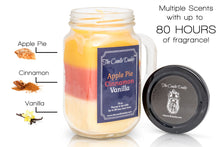 Apple Pie Cinnamon Vanilla Scented Candle-  Mason Jar Candle- 10 Ounce- 80 Hour Burn- Made in USA