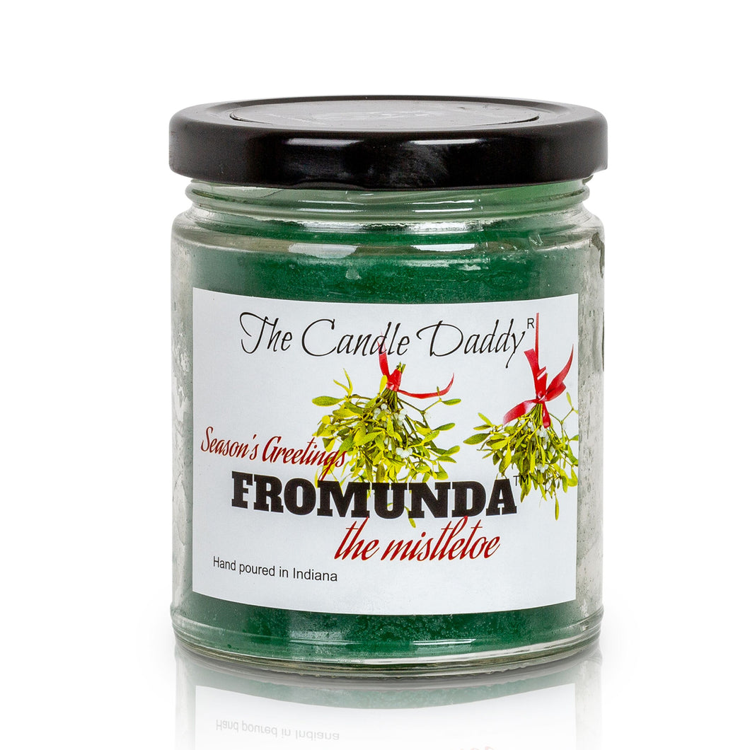 Christmas Candle- Seasons Greetings FROMUNDA the mistletoe- 6 oz Hand poured in Indiana