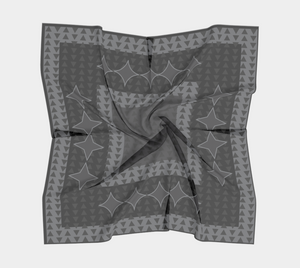 Gray Triangle on Black Scarf - Spgetti