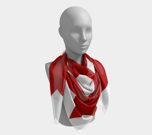 Red Amish Design Scarf