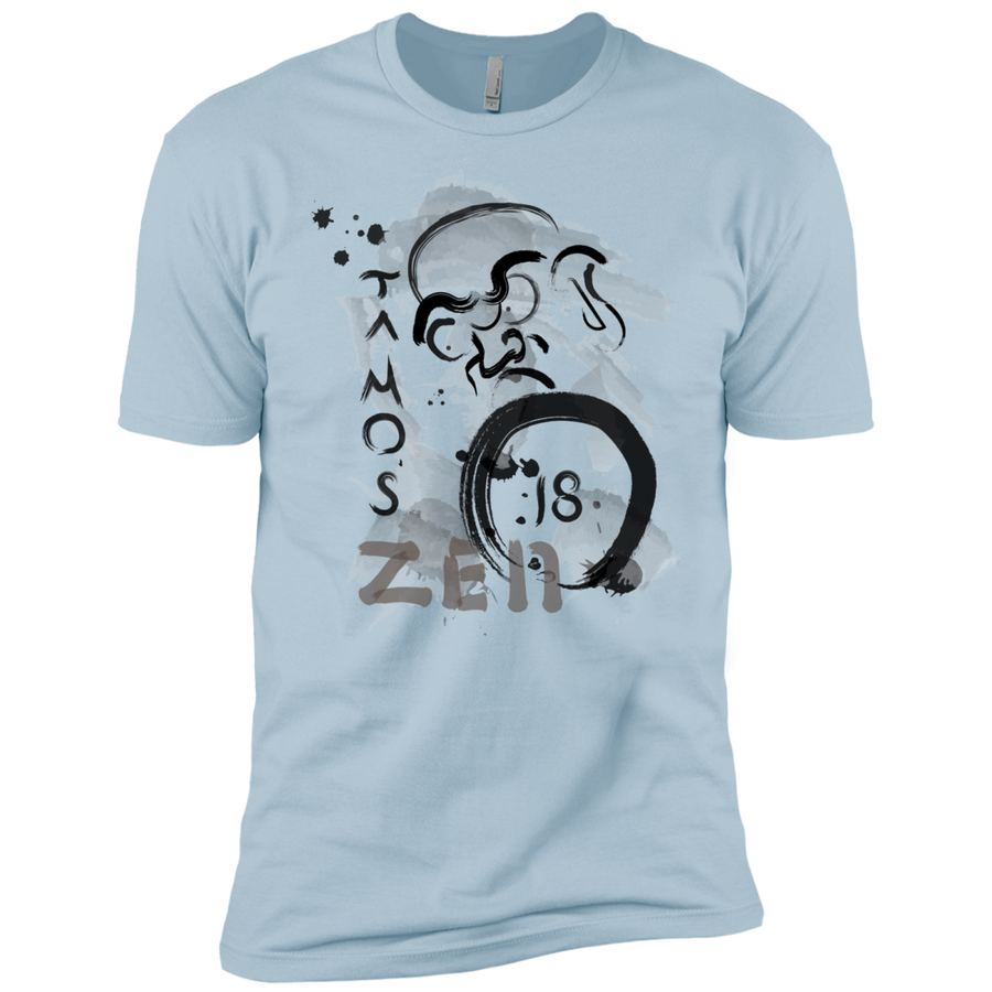 Light Blue Ta Mo's (Bodhidarma)18 Zen t-shirt  Dri-Fit Moisture-Wicking T-Shirt