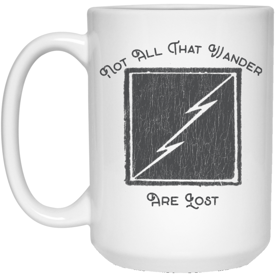 Not All Who Wander Are Lost 15 oz. White Mug - Spgetti