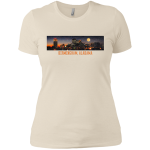 Birmingham and Moon Ladies' Boyfriend T-Shirt - Spgetti